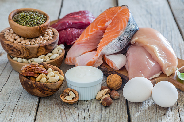 protein foods | salmon chicken eggs beans soy nuts yogurt