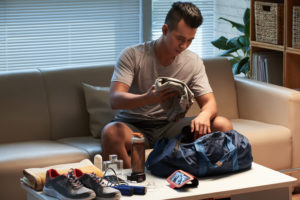 pack workout gear -- travel fit tips
