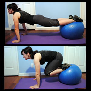 Stability Ball Roll Outs