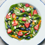 Spinach Berry Salad Recipe with Strawberry Vinaigrette