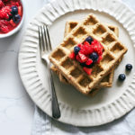Cashew and Oat Gluten-Free Waffles with Fresh Berries