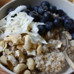 Steel Cut Oatmeal with Coconut