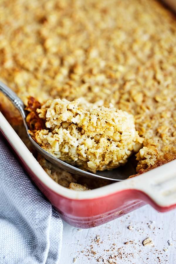 Baked Vanilla Oatmeal
