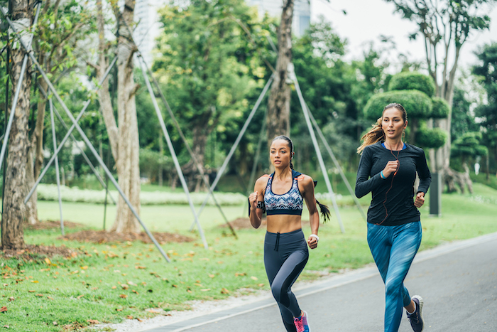 sticking with exercise- running together