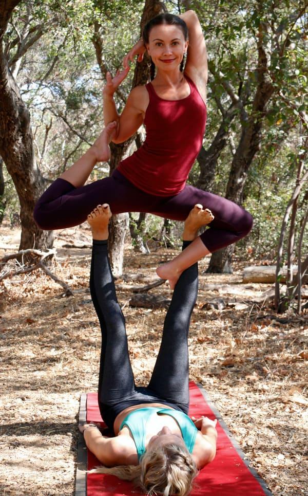 acro yoga pose- mermaid
