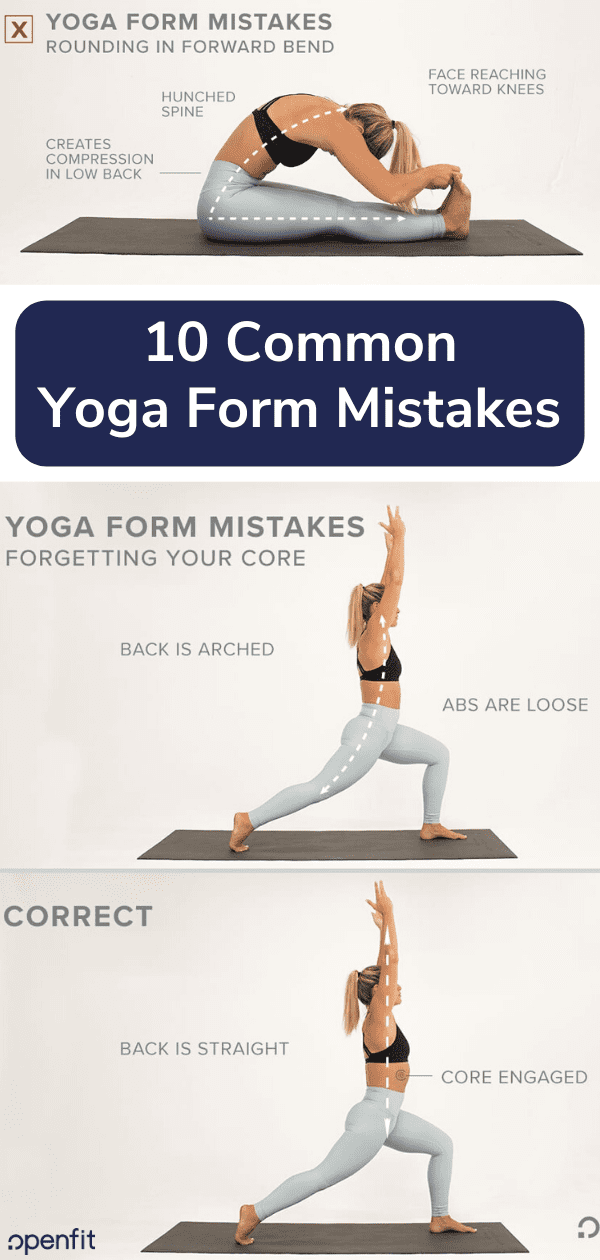 yoga form mistakes - pin image