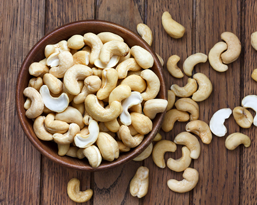 bowl of cashews | superfoods that help with stress