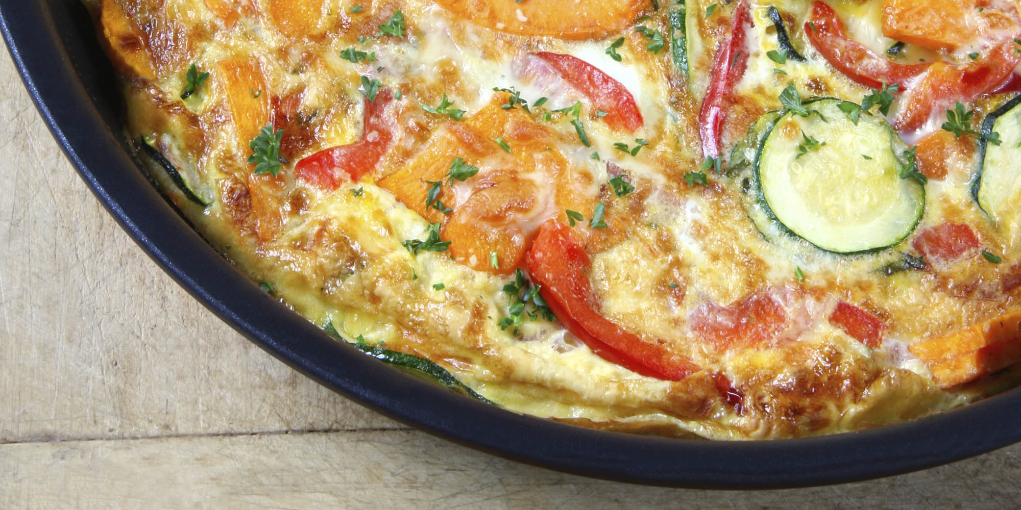 Zucchini, Red Pepper, and Sweet Potato Frittata