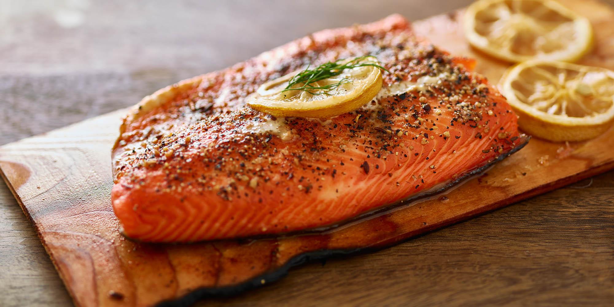 Cedar Plank Salmon with Maple Glaze