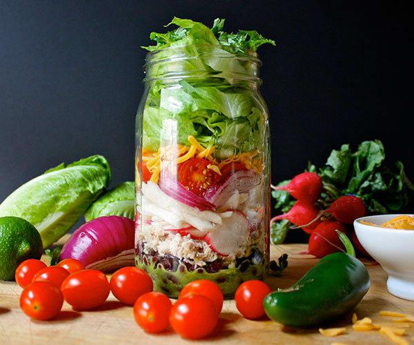Chicken and Black Bean Burrito Salad
