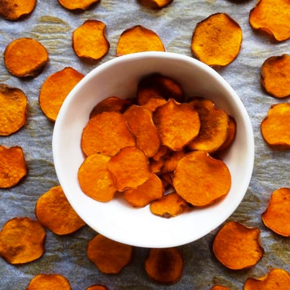 Meal Prep Snacks baked sweet potato chips