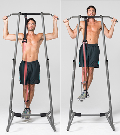 back workout at home - Assisted Pull-Ups