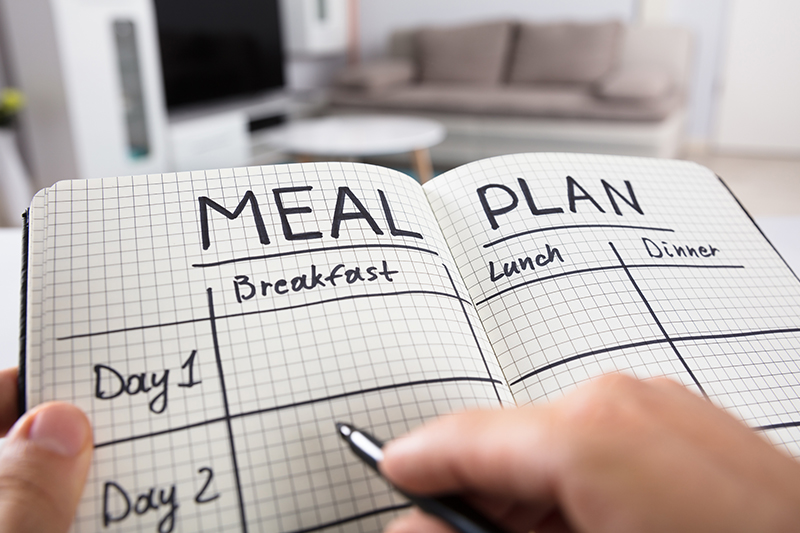 Write out your meal plan and grocery list