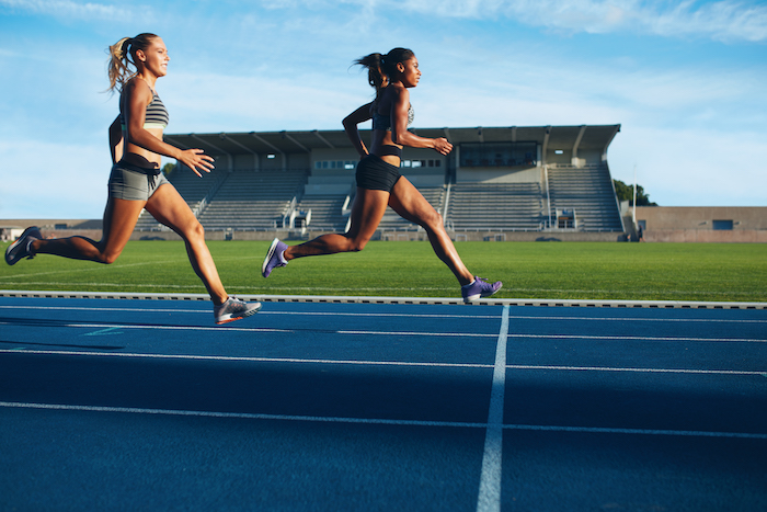 beta alanine benefits | women running track | finish line