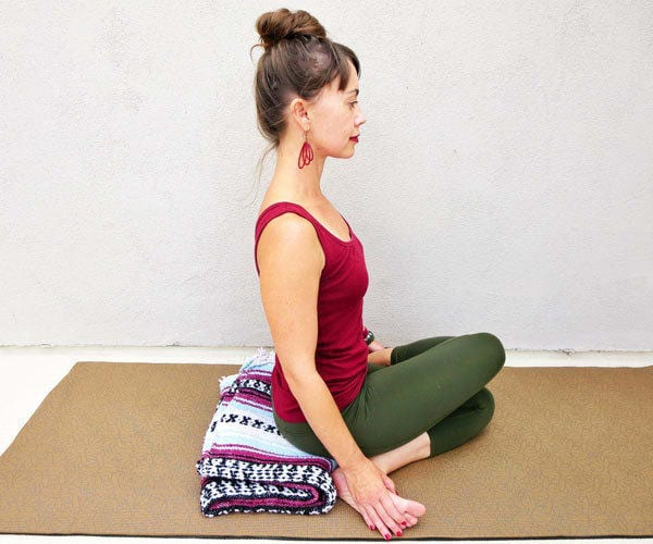 Yoga Poses for Hip Pain - Cow Face Pose