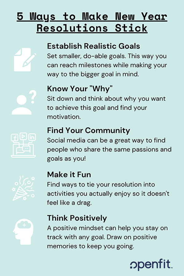 5 ways to make your new year's resolutions stick pinterest image | new years resolutions