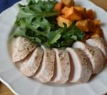 Baked Chicken Breast - Boneless Skinless Chicken Breast on a plate