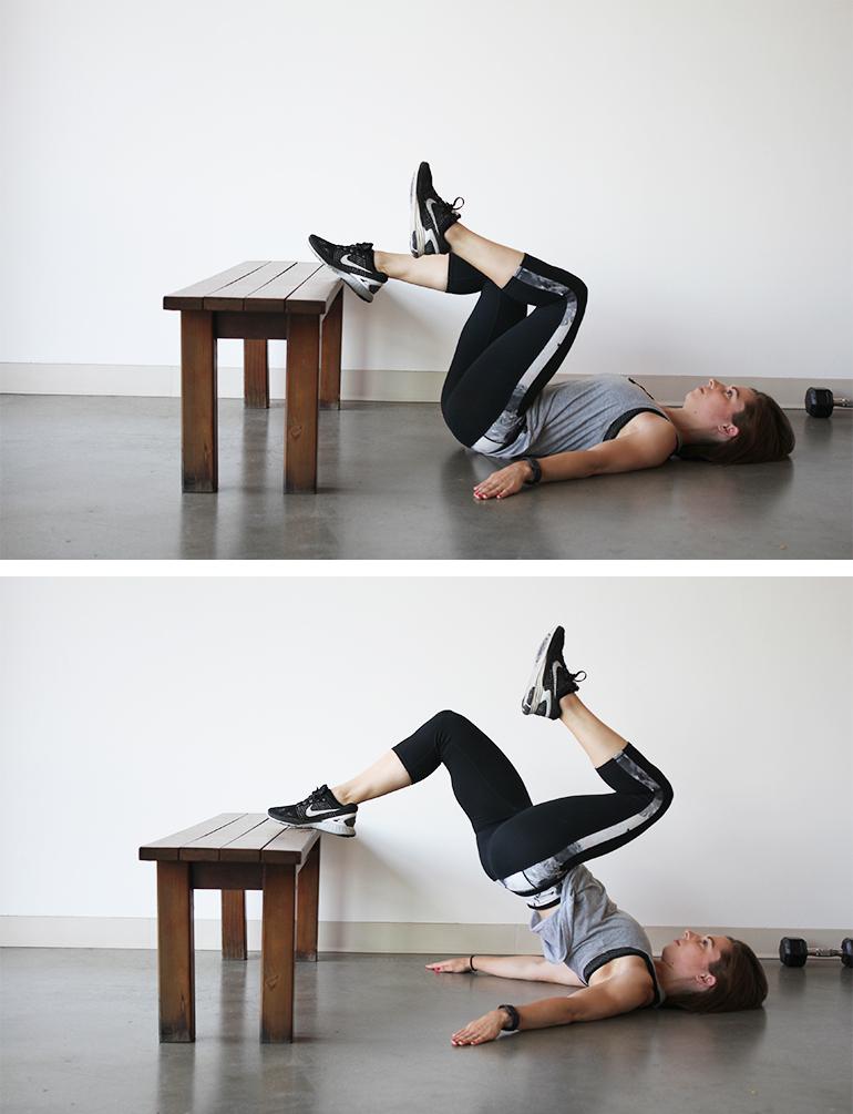 Single-Leg Foot-Elevated Hip Raise