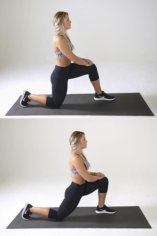 lower back exercises - kneeling hip flexor