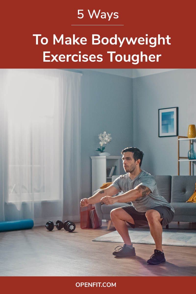 bodyweight exercises tougher pin image