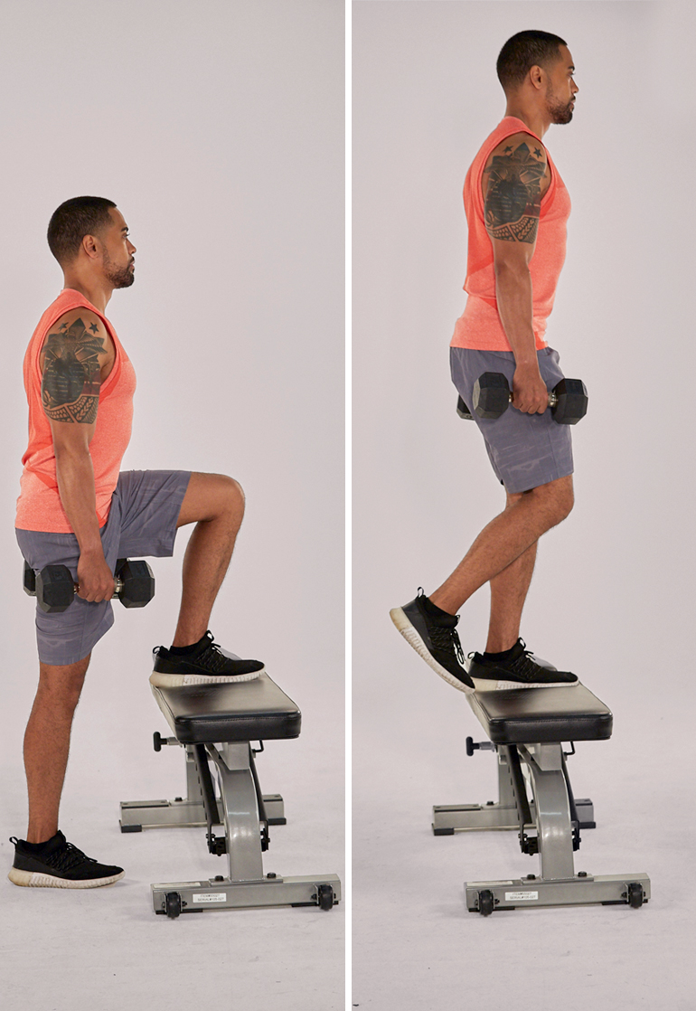 bodyweight exercises for chest - step ups