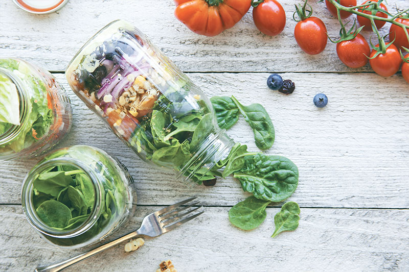 How Can I Beat a Weight-Loss Plateau? Salad Jars