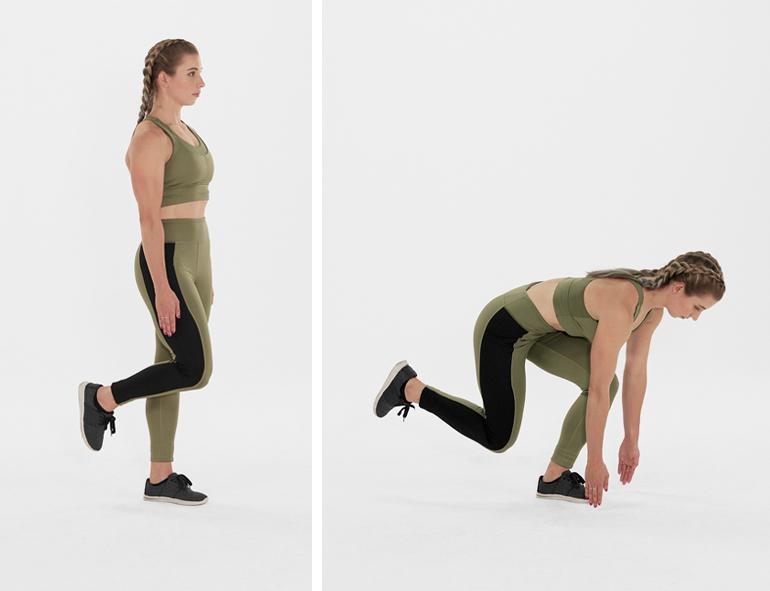 hamstring exercises- single leg deadlift
