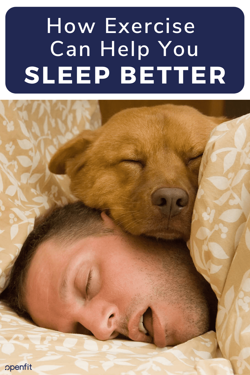 sleep better with exercise pin image