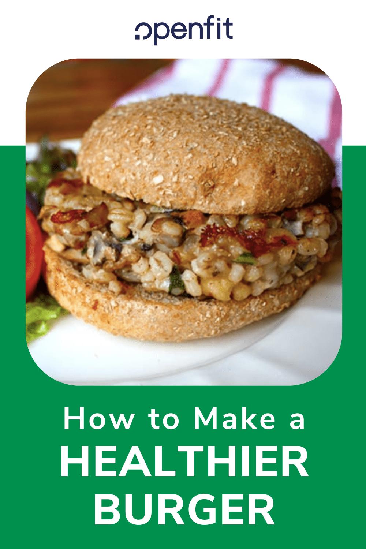 healthier burger pin image