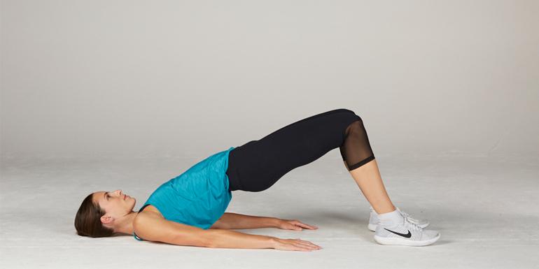 morning yoga flow - bridge pose