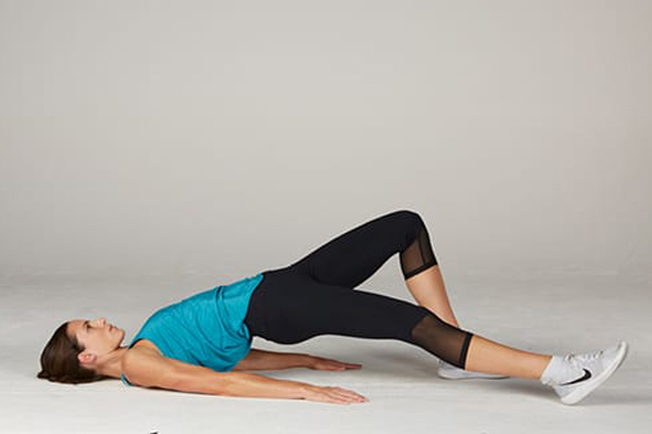 Hip Bridge Exercise Variation