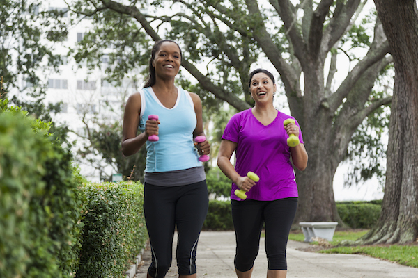 walking for weight loss- women walking together