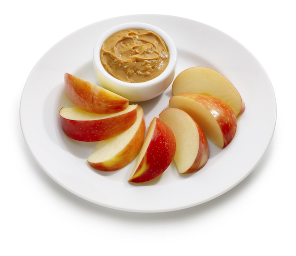 best foods to eat before bed- apples and peanut butter
