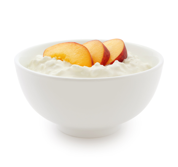 best food to eat before bed- cottage cheese and peaches