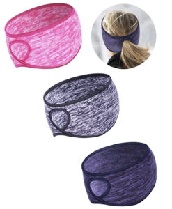 Tatuo Fleece Ponytail Headband, 3 Pieces--best cold weather exercise gear