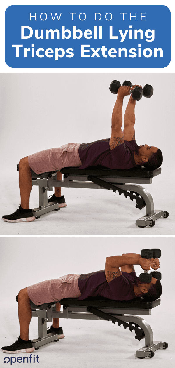 lying tricep extension - pin image