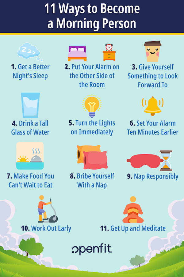 become a morning person infographic