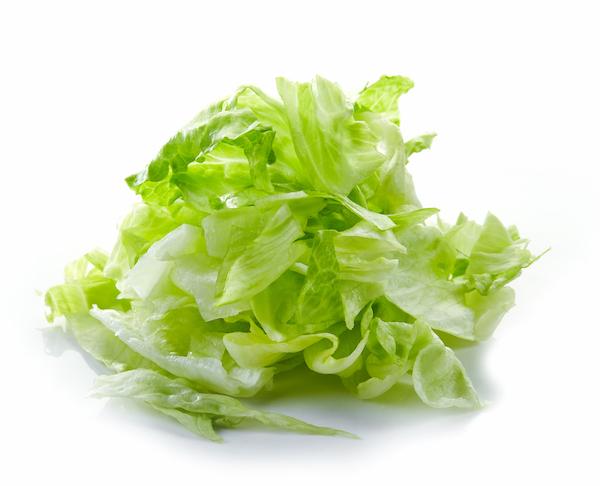 iceberg lettuce nutrition- chopped lettuce