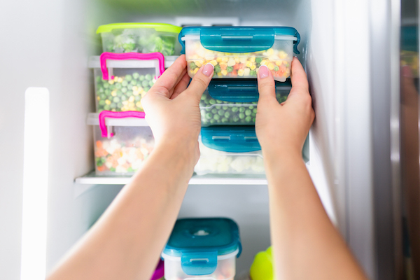 keep leftovers from spoiling- putting food in freezer