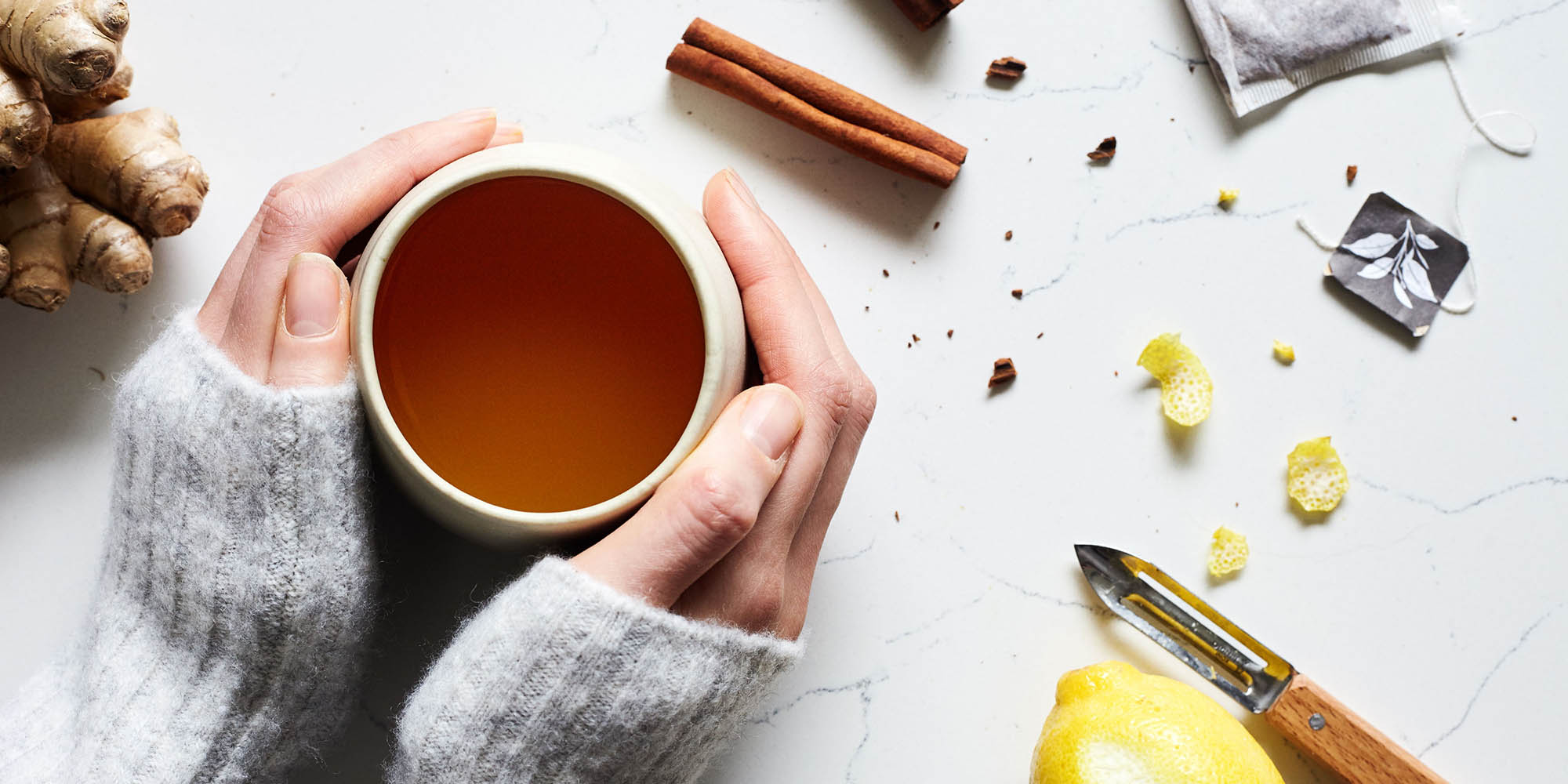 Hot Toddy with Apple Cider and Rooibos Tea