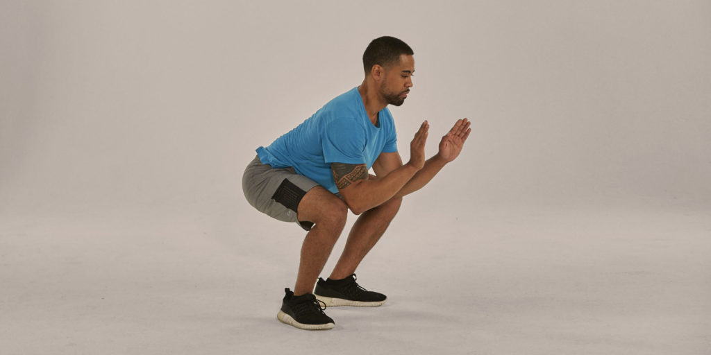 Plank to Low Squat