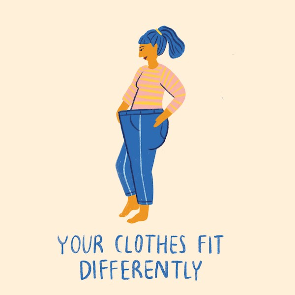 non scale victories- clothes fit different