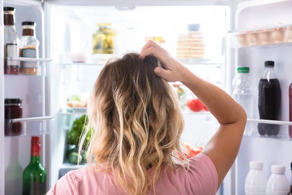 junk food withdrawal- looking in fridge