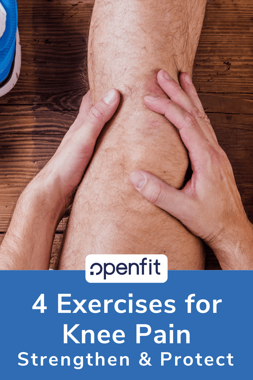 exercises for knee pain - pin image