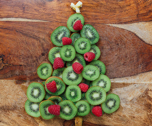 Healthy Holiday Treats - Kiwi Christmas Tree