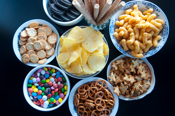 bowls of unhealthy, processed food | how to gain weight