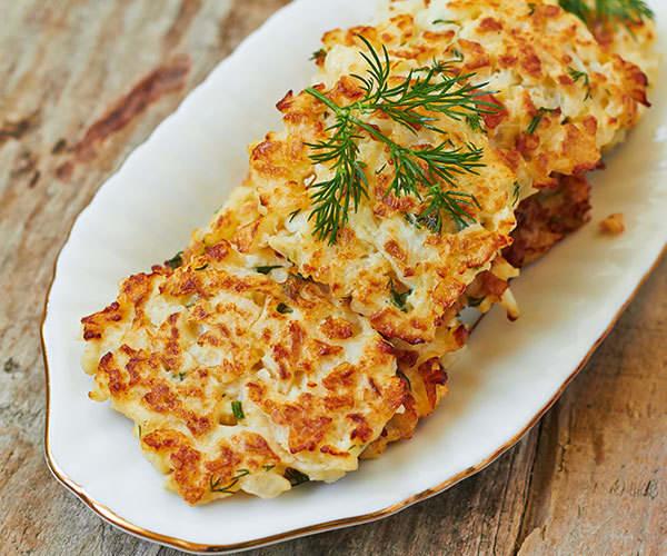 Baked Cauliflower Latkes