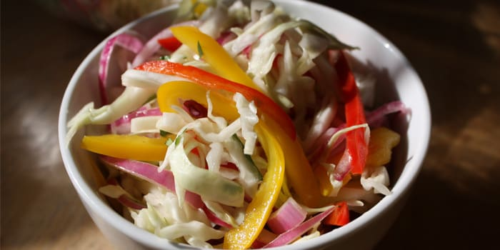 Bell Pepper and Cabbage Slaw