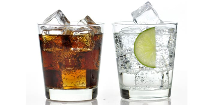 feel less bloated- carbonated drinks