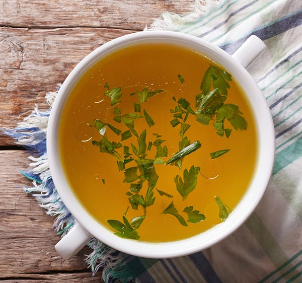 low calorie filling foods - broth soup